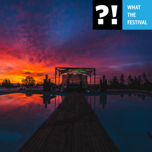 What The Festival Pool Stage at Sunset