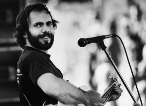 Steve Goodman Performing with Acoustic Guitar --- Image by © Christopher Felver/CORBIS