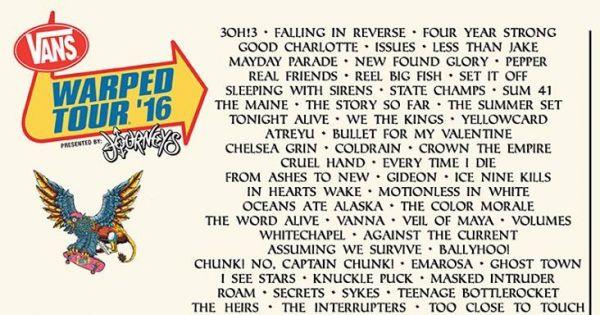 Portland Warped Tour  Lineup